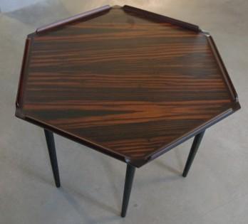 Danish Hexagonal Side Table