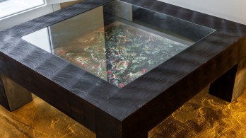 Coffee table with a Murillo's original painting