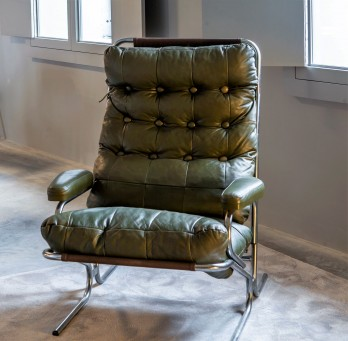 Green Lounge Armchair