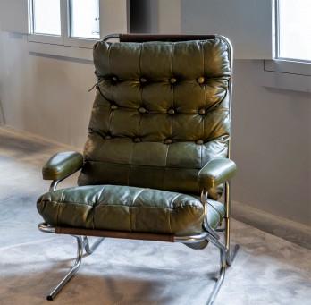 Green Lounge Armchair